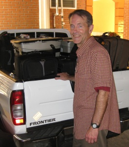 Rick Smith with supplies in 2008
